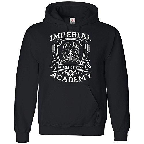 Inspiriert Imperial Trooper Academy Hoodie Plus 1Gratis T Shirt Darth Kaiser Galaxy Wars Erste Bestellung bedruckt Hoodie Jedi Vader Star Gr. XXL, Schwarz - Schwarz