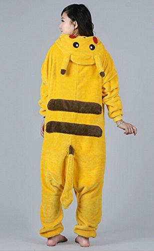 Tonwhar-Pikachu-Kigurumi-pijamas-para-adultos-Anime-Cosplay-disfraz-de-Halloween