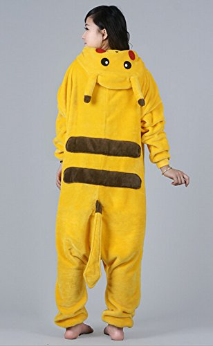 Imagen de tonwhar® pikachu kigurumi pijama/disfraz de halloween para adultos, estilo cosplay de anime alternativa