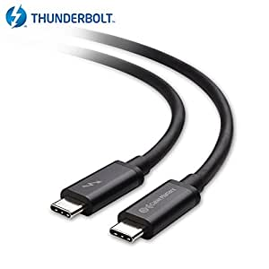 Cable Matters Thunderbolt 3 (20 Gbps) / USB-C 3.1 Gen 2 (10 Gbps) via Cavo in Nero 2m