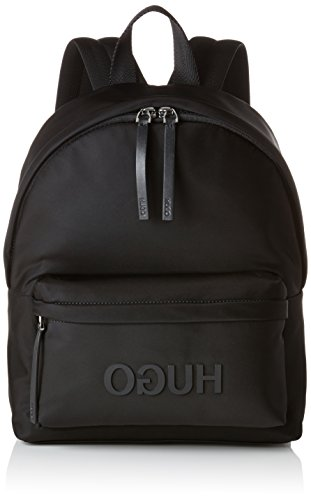 HUGO Damen Record Backpack Rucksack, Schwarz (Black), 15x28x25 cm