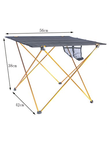 Feifei Bureau en Tissu Oxford Support en Alliage d'aluminium Voyage Portable Simple Barbecue Table de Pique-Nique de Plein air Camping Table Pliable économiser de l'espace (Couleur : 3, Taille : S)