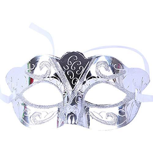 Catwoman Für Jugendliche Kostüm - DingLong Halloween Maske Half Face Venezianische Maske - Realistische Neuheit Kostüm Party Maske Gesichtsmaske Karneval Verkleidung Maskenball Unfug (B)