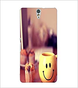 PrintDhaba Smiley Mug D-1204 Back Case Cover for SONY XPERIA C5 ULTRA (Multi-Coloured)