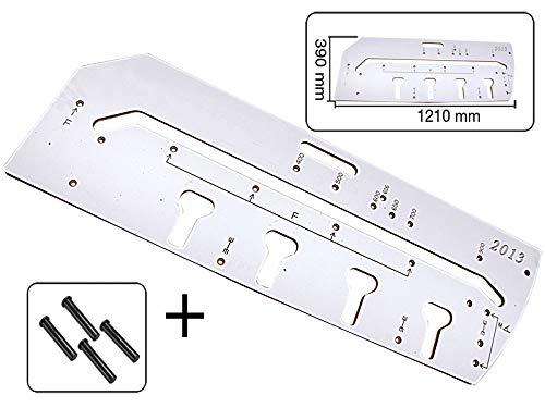 Frässchablone 900mm für Arbeitsplatten Verbindungen mit 4 Fixierstifte