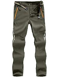 7VSTOHS Pantaloni Outdoor da Uomo Pantaloni da Trekking Impermeabile Antivento Traspirante Caldo Pantaloni da Caccia Pantaloni Invernali da Viaggio per Inverno/Autunno/Primavera