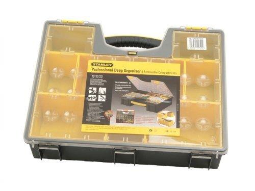 Stanley Werkzeug-Organizer / Aufbewahrungsbox (42.3x10.5x33.4cm, Koffer für Kleinteile in zwei verschiedene Größen, formstabiler Deckel aus Polycarbonat, organisierte Aufbewahrung) 1-92-749