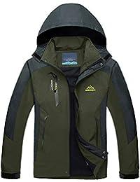 40051b6cccba79 TACVASEN Herren Leichte Wasserdichte Softshell Jacke mit Abnehmbarer Kapuze