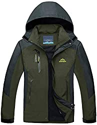 Skijacke Herren Outdoor Schnee Waterproof Breathable Windproof Parka Men Camping Wander Wasserdichte Fleece Fishing Hunting Skiing mit Kapuze Mens Mountain Army Jacket Armeegrün Army Green olive