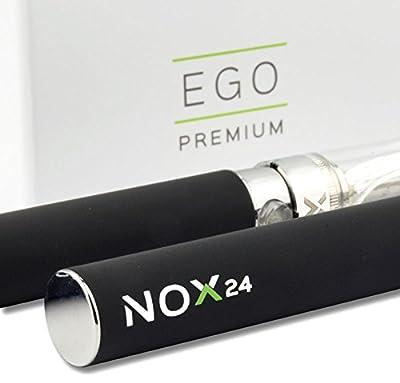 E-Zigarette eGo-T Doppel Set 2x 1100mAh Akku 2x Atomizer in einer tollen Geschenkbox - e Shisha / e Hookah - Original: Nox24 von Nox24