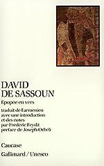 David de Sassoun - Épopée en vers de Anonymes