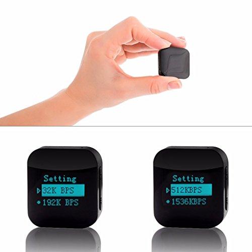 ATTO-16GB Extra Pequeño HQ Módulo Espía Activado por Voz - Grabador de Voz Digital con contraseña de archivos protegidos - Discreta Vigilancia Gadget - 16GB / 1140 horas de capacidad - 24h de duración de la batería
