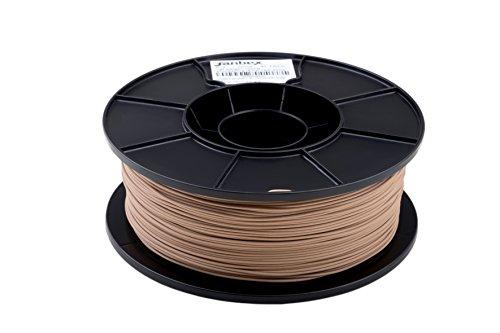 JANBEX PLA (Holz/Wood) Filament 1,75 mm 1kg Rolle für 3D Drucker oder Stift in Vakuumverpackung ... (Holz)