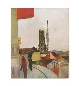 August Macke Kathedrale zu Freiburg in der Schweiz Poster Kunstdruck - Kostenloser Versand