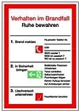0583. Verhalten im Brandfall - VERHALTEN IM BRANDFALL - 200x200mm