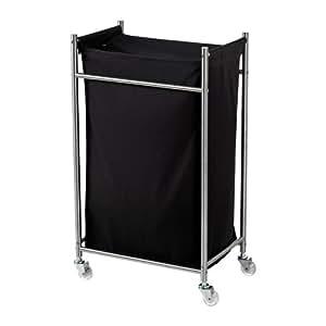 ikea grundtal w schesack mit rollen edelstahl schwarz 70 l k che haushalt. Black Bedroom Furniture Sets. Home Design Ideas