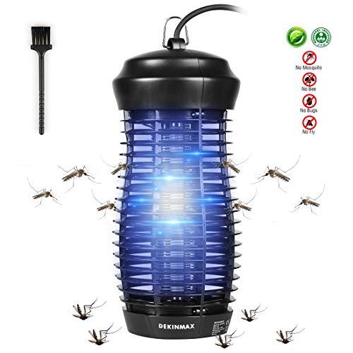 DEKINMAX Lámpara Mata Insectos Electrico Lámpara Anti Mosquitos UV Mosquitera Eléctrica Interior y Exterior