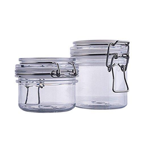 120 g (113,4 gram)/200 g (198,4 gram) Rondes en acrylique Transparent Loquet Couvercle Cosmétique de stockage hermétique bocaux Lot de 1 pcs très Beau Cadeau de Noël