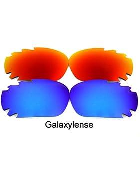 Galaxylense lentes de repuesto para Oakley Jawbone azul y rojo Color Polarizados 2 Pares,