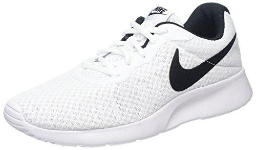 Nike Damen Tanjun Sneakers, Weiß (White/Black 100), 40 EU (Schnürsenkel Basketball Schuh Der)