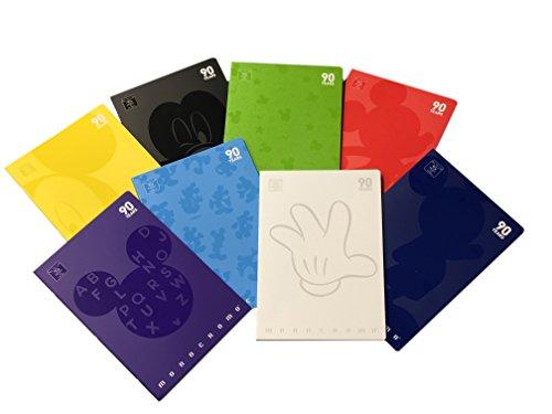 Pigna Monocromo Evento 90 Mickey 02297791R, Quaderno formato A4, Rigatura 1R, righe per medie e superiori, Carta 80g/mq, Pacco da 10 Pezzi