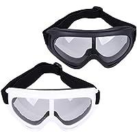 TOYANDONA Gafas de Ciclismo con Lentes Transparentes Gafas de Sol Deportivas Gafas de Esquí Gafas Protectoras Béisbol Running Gafas Marco Blanco Negro Accesorios Al Aire Libre