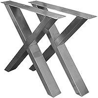 Gambe In Acciaio Inox Per Tavoli.Gambe Tavolo Acciaio Tavoli Da Sala Da Pranzo Amazon It