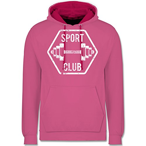 CrossFit & Workout - Sport Club - Kontrast Hoodie Rosa/Fuchsia