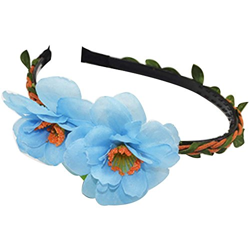 3 bandes Pcs New Style Bleu Peach Woven Cloth Cheveux Coiffe