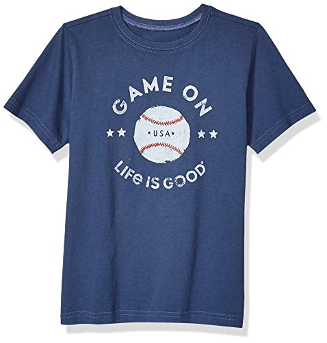 Life Is Good Boys Crusher Graphic T-Shirt Collection,Game On,Darkest Blue,X-Large - Life Is Good Boys T-shirt