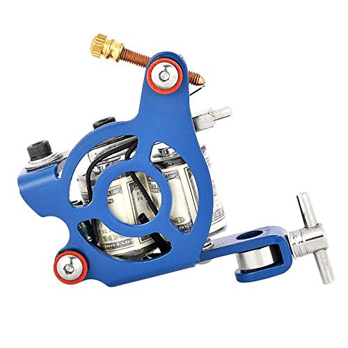 Handmade Tattoo Gun (Yaoaoden Coils Iron Tattoo Machine Liner Shader Portable Handmade Tattoo Guns Beauty Makeup Tool for Body Art Tattoo Equipment)