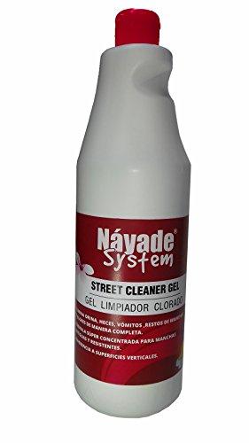 YMBERSA Náyade System Street Cleaner Gel Limpiador Gel Clorado. 1 Lt. Elimina pipí, Caca, vómitos, olores, restos y Manchas de Mascotas