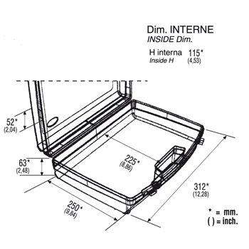 Kunststoffkoffer leer in schwarz, Außenmaß: 320x280x119 mm - 3