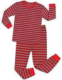Hibote Pijamas Rayas para Niños Pijamas Navidad para Niñas Vetement Enfant Fille Pijamas Pijamas Navidad para