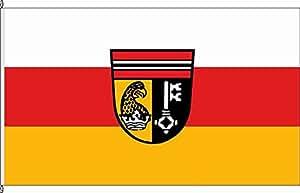 Königsbanner Tischfähnchen Griesstätt - Tischflaggenständer aus Holz