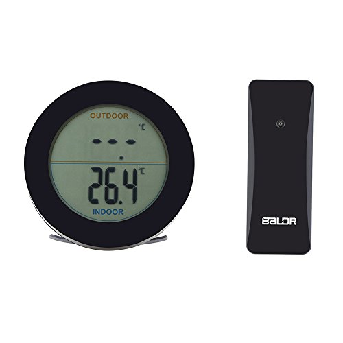FTVOGUE Wireless Thermometer LCD-Anzeige Indoor-Außenfühler Temperatursensor Outdoor(02)