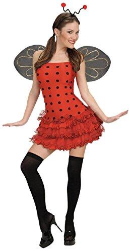 chsenenkostüm Marienkäfer, Kleid, Flügel und Kopfschmuck, Größe M (Fliegen Kostüm Ideen)
