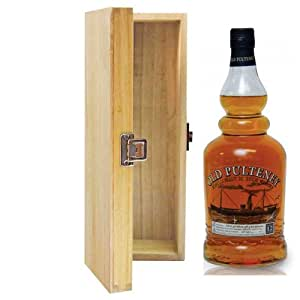700ml Old Pulteney 12 YO Whisky in Hinged Wooden Gift Box
