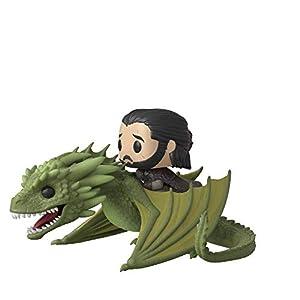 Funko POP Rides: Game of Thrones-Jon Snow w/Rhaegal Ducati Figura coleccionable, multicolor (44448) 4