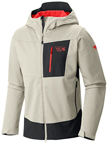 mountain-hardwear-veste-softshell-dragon-hooded-jacket-stone-x-large
