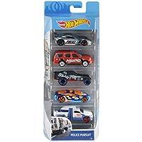 Hot Wheels Pack de 5 vehículos, coches de juguete (modelos surtidos) (Mattel 1806)