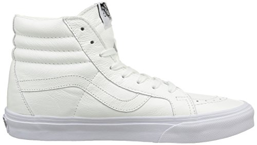 Vans U Sk8-Hi Reissue Leather, Baskets Basses Mixte Adulte Blanc (Premium Leather/True White)