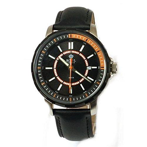 Royal London 40115-03 - Reloj para hombres, correa de cuero color negro