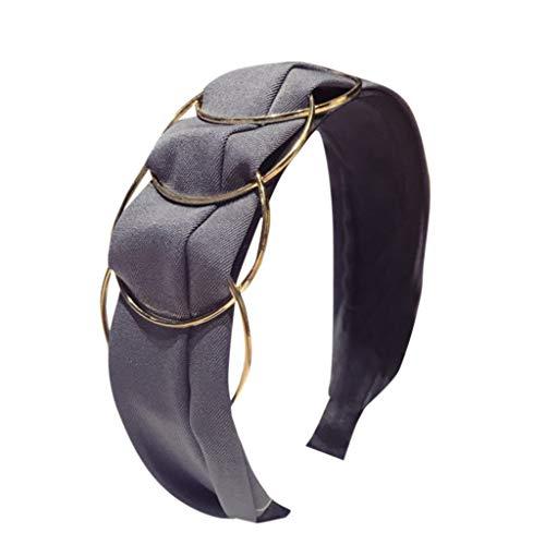 Beudylihy Prospekthalter Damen Stirnbänder Breit Haarbänder Turban Verdreht Vintage Casual Bow Knot Einfarbig Haarschmuck