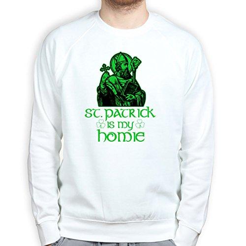 St Patrick Is My Homie Irish Leprechaun Shamrock Clover Pullover Tee