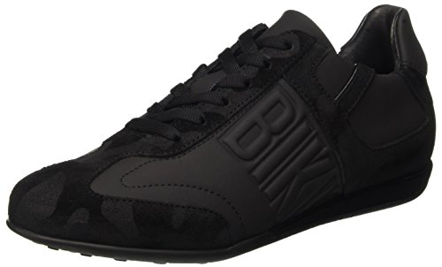 Bikkembergs R-Evolution 331 Shoe M Rubber Leather/Suede, Scarpe Low-Top Uomo, Nero (Black/Camou), 42 EU