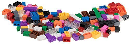 Strictly Briks - Classic Bricks - Set de ladrillos para construir - 4 tamaños y formas diferentes de ajuste perfecto - 100 % compatibles con las grandes marcas - 12 colores intensos - 156 piezas
