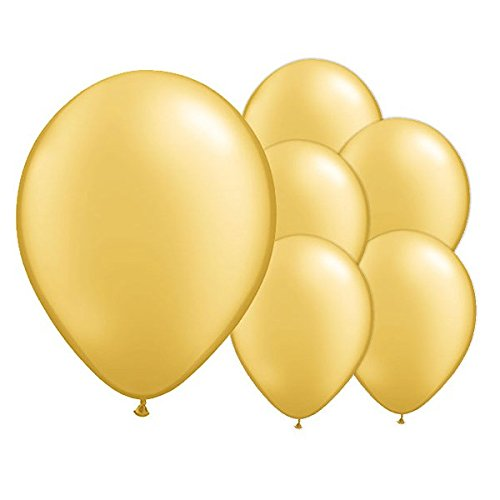 100 unids Globos dorados para decoración fiestas bodas