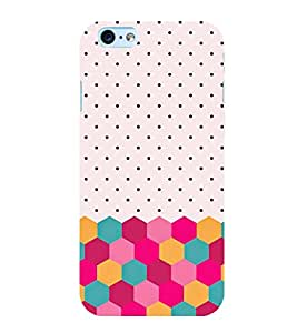FUSON Colorful Dotted Textures 3D Hard Polycarbonate Designer Back Case Cover for Apple iPhone 6S