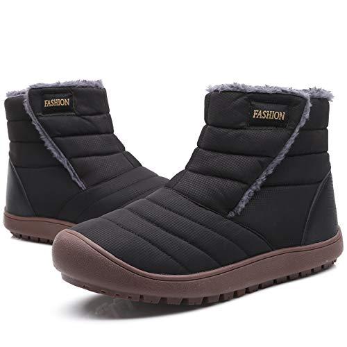 YIRANFA Women Men Winter Snow Boots Warm Ankle Boots Booties Outdoor House Boots Sneaker Waterproof Fur Lined Anti-Slip